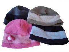 Fleece čepice pruhem 6měs - 2roky