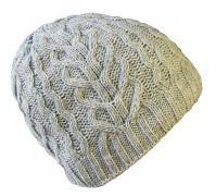 Pletená čepice s copánky UNI