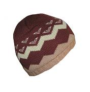 Pletená čepice vzorovaná podšitá fleecem