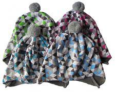 Zimní čepice Trojúhelníky vázací 3