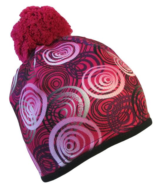 dff1ea4205e Tmavě růžová s růžovými kruhy čepicecz.cz - nechte na hlavě