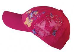 Letní dívčí kšiltovky výš.motýli 50-52