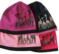 Dívčí čepice Žirafy 4,5,6