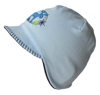 Čepice na uši s kšiltem výš.SOB 4,5