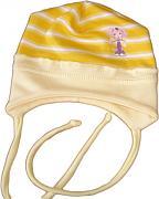 Zavazovací čepice pruhovaná pro miminka