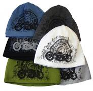 Pletená čepice tisk motorka