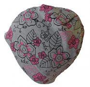 Dívčí čepice barevné Květy 5