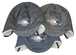 Zimní čepice s kšiltem Pes váz. 3