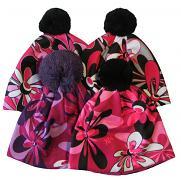 Zimní čepice Velké květy 6