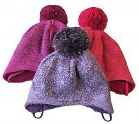 Zimní čepice Vločky vázací 2