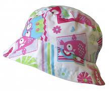 Dívčí klobouk potisk Sova 54