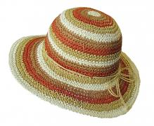 Dámský papír.klobouk barevný